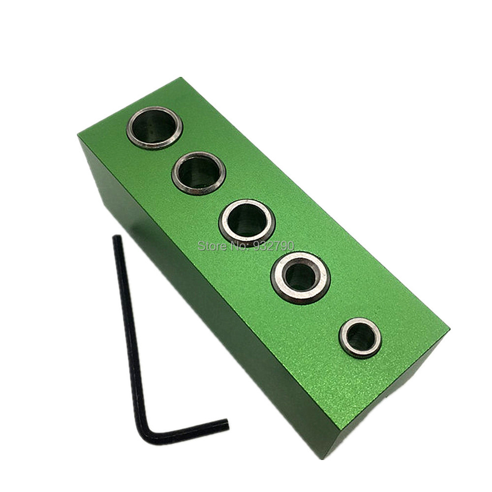 Wrench 5-Hole Drill Bit Guides Drilling 90Deg Angle Guide Bit Doweling Jig