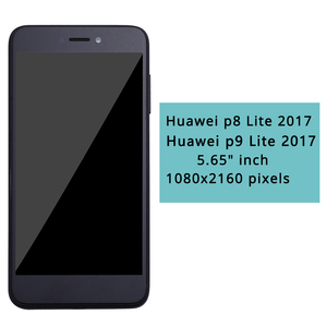 Image 1 - Huawei P9 Lite 2017 LCD Display Touch Screen Digitizer For Huawei P9 Lite 2017 LCD With Frame P8 lite 2017 PRA LA1 LX1 LX2 LX3