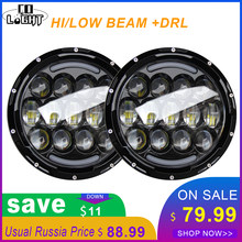CO LIGHT 7 Inch Head Light 105W Angel Eyes White Drl Amber Turn Signal Lights 9-30V for Lada 4X4 Urban Niva Uaz Hunter Offroad(China)