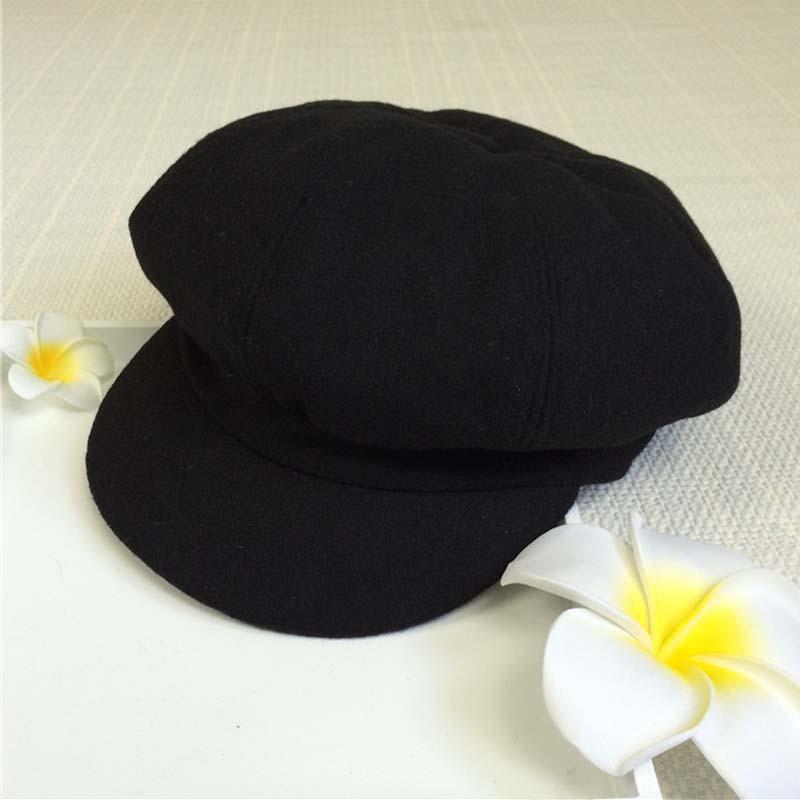 100% QualitäT Weibliche Newsboy Caps Octagon Kappe Student Baskenmütze Maler Hut Spielerische Nette Reine Farbe Hüte Weich Und Leicht