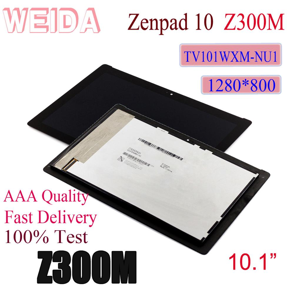 WEIDA For Asus Zenpad 10 Z300M Yellow cable 1280*800 LCD Display Touch Screen Assembly TV101WXM NU1