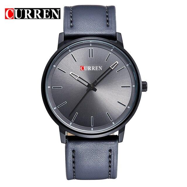 CURREN 8233 New Men Watch Luxury Brand Black Steel Waterproof Mens Quartz Watch Business Male Clock Wristwatch Relogio Masculino