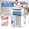 Nicefeel 1000ml électrique Oral irrigateur dents nettoyant soins dentaire Flosser SPA eau Flosser + 7 pièces Jet conseils