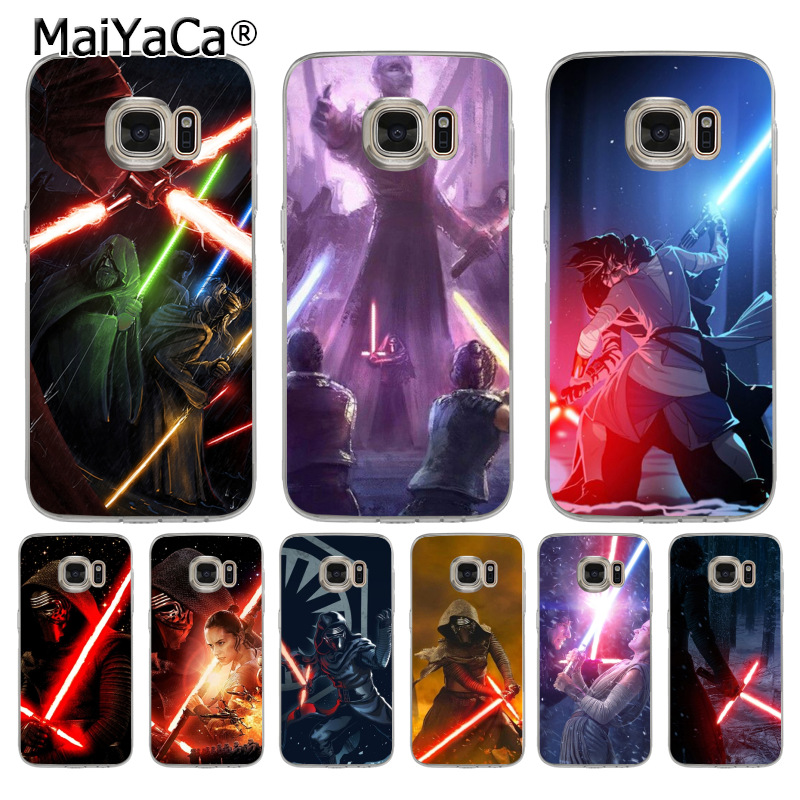 MaiYaCa REY KYLO REN LIGHTSABER FIGHT soft tpu phone case cover for samsung galaxy s6 s7 edge s6 edge plus s5 s4 s8 plus case