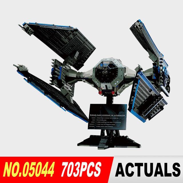 Nueva Lepin 05044 703 unids Serie Star War Edición Limitada El TIE Interceptor Building Blocks Ladrillos Modelo Juguetes 7181 Niño regalos