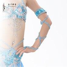 Accesorios de la Danza Del Vientre Accesorio de la Danza del Funcionamiento de la etapa para Las Mujeres Brazalete De Diamantes Danza del Vientre Accesorios de la Danza 995