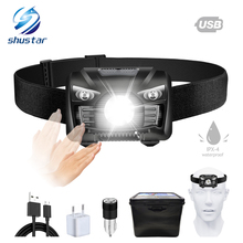 Highlight Waterproof Bicycle light Chargeable LED headlamp Induction switch headlight 3 display mode  for Cycling lighting exled 3w led 80lm 3 mode white zooming headlamp black