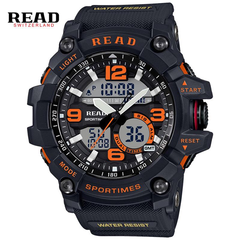 Prix pour READ Sport Montre Hommes Horloge Mâle LED Numérique Bracelet À Quartz de Montres Hommes Top Marque De Luxe Numérique-montre Relogio Masculino 90001
