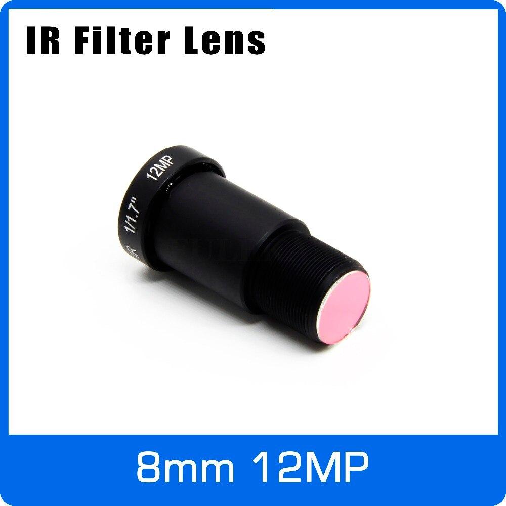 4 K Lentille 12 Mégapixels M12 1/1. 7 8mm Vue À Longue Distance Pour SJCAM Xiaomi Yi Gopro Luciole Eken D'action Caméra DJI Runcam Drone DRONES