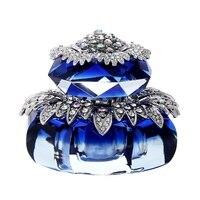 Luxury Auto Interior Accessories Beautiful Crystals Flower Car Air Freshener Dashboard Perfume Bottle Ornaments w/ Anti slip Mat