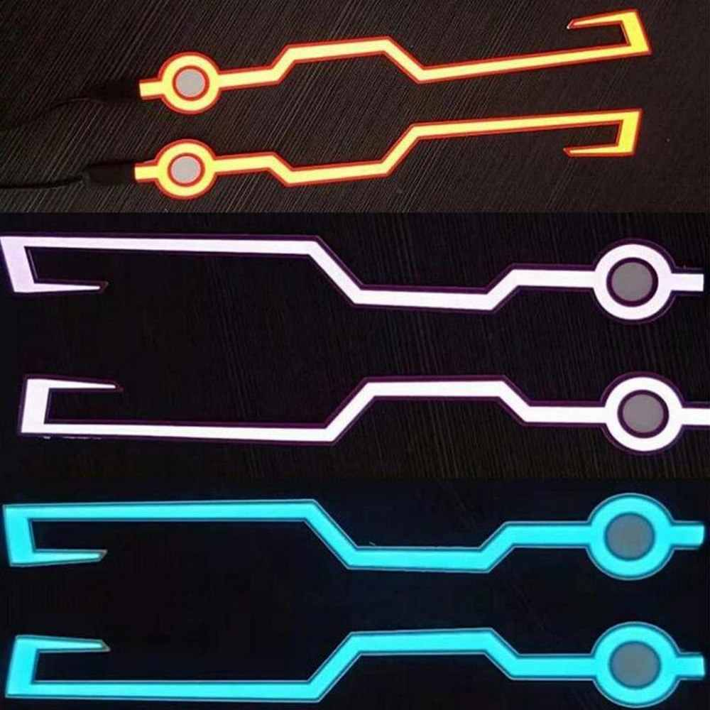 Bezpieczeństwo jazdy w nocy światło ostrzegawcze naklejki motocykl rower kask na zimno-światło-czy doliczone zostaną dodatkowe opłaty lampa LED naklejki jazdy w nocy lampka sygnalizacyjna