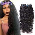 7A Malaysian Water Wave Human Hair Weave 4 Bundles Deal Malaysian Virgin Hair Water Wave Ocean Wave Natural Big Curly Iwish Hair