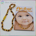 Genuine Natural Amber 6mm~8mm Chips Beads Baby / Kid Teething Bracelets and Necklace
