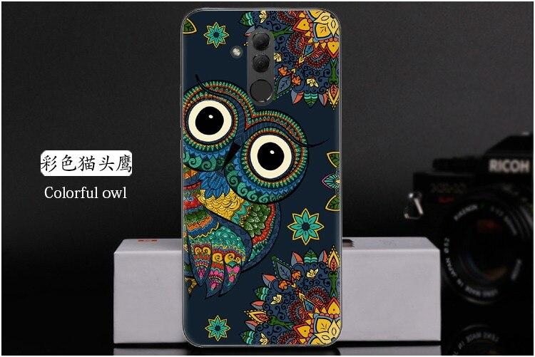 Huawei Mate 10 Lite Case Huawei Mate 10 Lite Cover Silicone Soft TPU Cartoon Painted Case For Huawei Mate 20 Lite Cover SNE-LX1