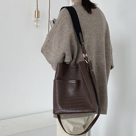 Винтажная сумка на плечо из кожи аллигатора, женские кошельки и сумки из искусственной кожи, композитные сумки, модные женские сумки из крокодиловой кожи, 2 шт.|Сумки с ручками| | АлиЭкспресс