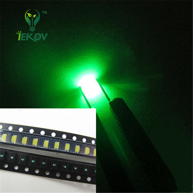 1000pcs 0603 SMD Pure Green  Led Super Bright SMT LEDS Light Diode Water Clear 520-525nm DIY