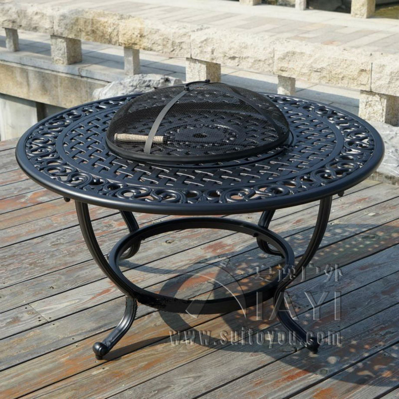 BBQ Table Cast Aluminum Table For Garden Chair Outdoor Furniture Popular In Size 106cm .