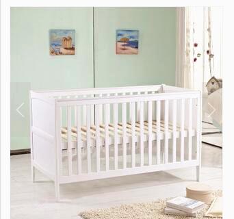 alta calidad blanca de madera maciza cama de beb cuna de beb alargar gran espacio