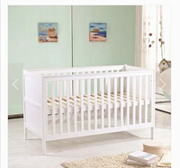 High Quality White Baby Bed Solid Wood Baby Crib Multifunctional Lengthen Large Space Baby Playpen Crib Baby Sleeping Cradle C01