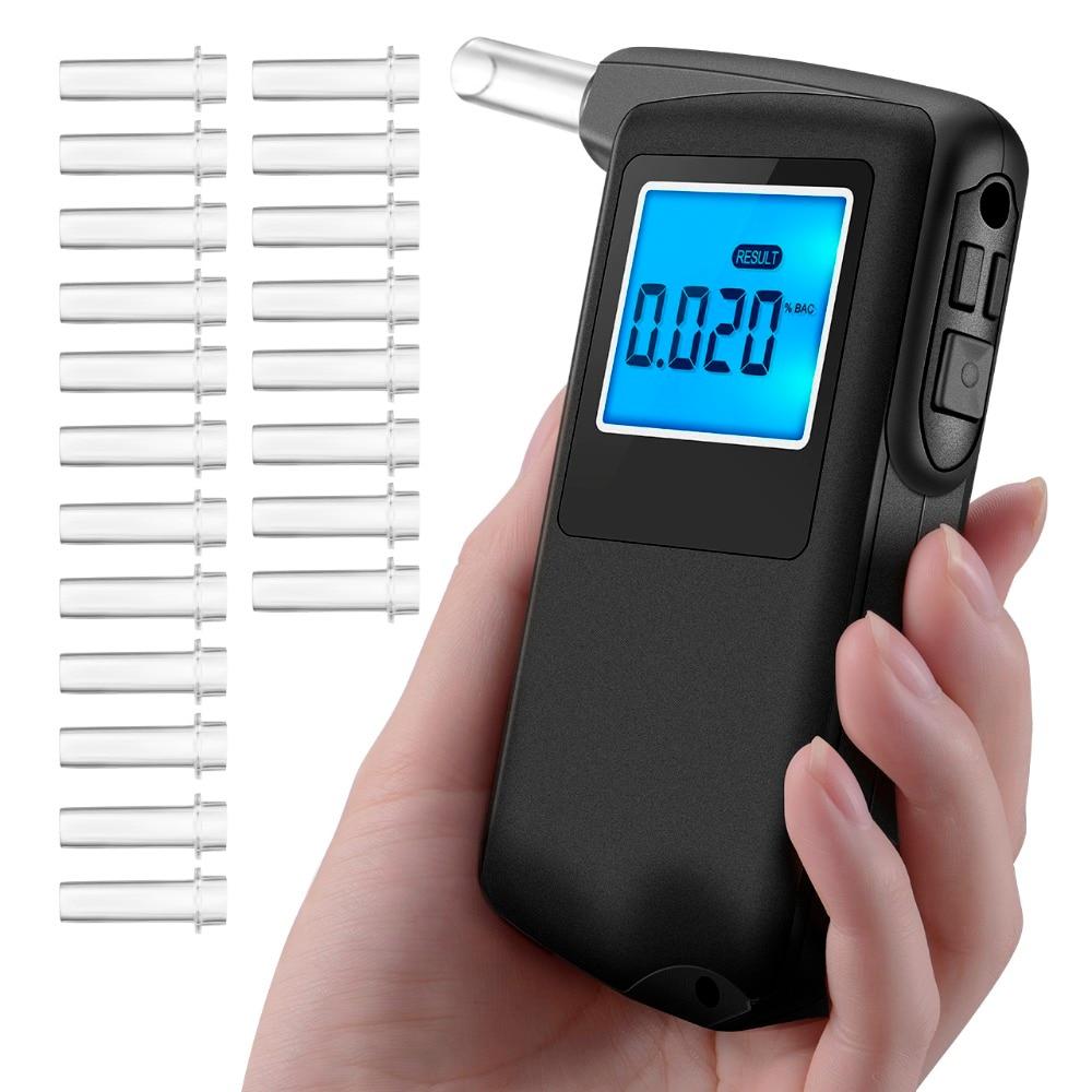 2018 professionelle Alkohol Tester Alkoholtester Tragbare High-präzision Digitale Atem Analyzer mit Prüfung Ergebnis Aufnahme