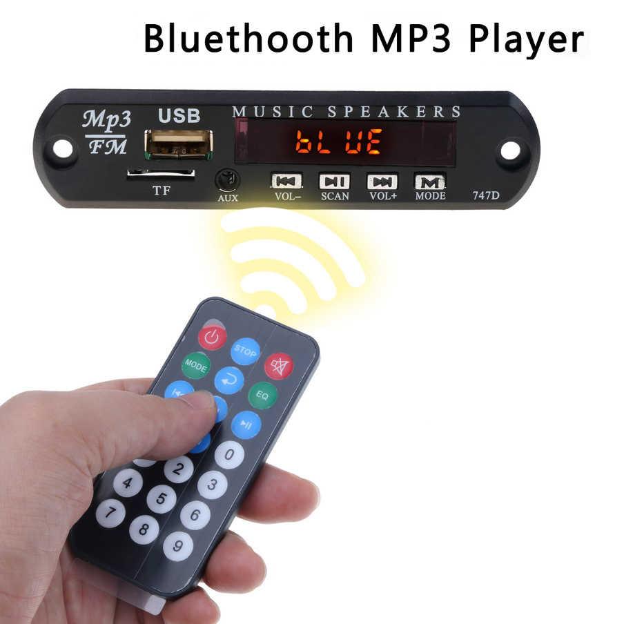 Kebidu sem fio bluetooth módulo de áudio mp3 wma decodificador placa usb tf fm rádio 5 v 12 v para a construção do carro no orador do carro mp3 player