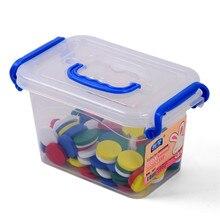 Bebé de Juguete Montessori Tablero Redondo de La Primera Infancia Educación Preescolar Training100 Pcs 5 Colores Juguetes Para Niños Brinquedos juguetes
