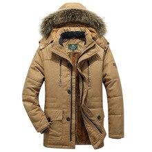 Мужская шерстяная подкладка, теплые зимние парки, куртки с капюшоном и воротником, Мужская одежда, большие размеры 5XL 6XL 7XL, пальто большого размера 116-126