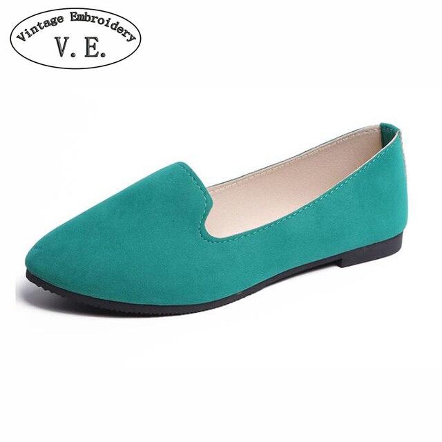 Cộng với Kích Thước Giày Phụ Nữ Căn Hộ Kẹo Màu Giày Đế Phụ Nữ Mùa Xuân Mùa Thu Phẳng Giày Giày Phụ Nữ Zapatos Mujer Mùa Hè Giày Size35-43