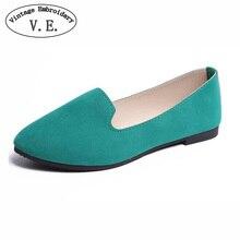 Plus Size Shoes Women Flats Candy Color