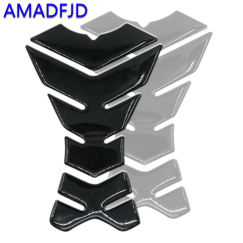 AMADFJD Motorcycle Sticker Sport Tank Pad Protect Sticker Decals Black Tank Sticker Motorcycle CBR600 R1 R6 GSXR1300 სტიკერი
