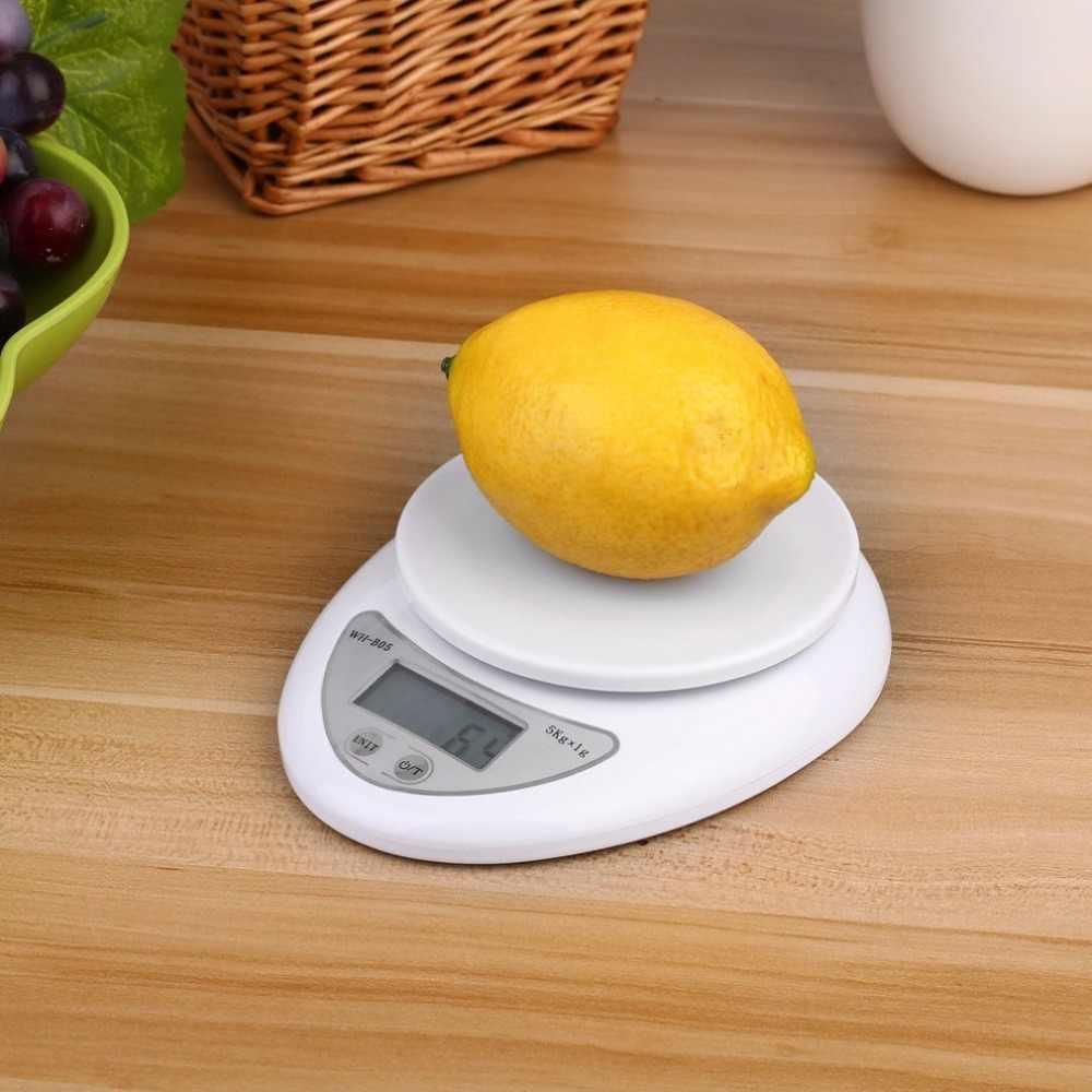 ホット販売 5 キロ/1 グラムのキッチンスケールバックライトデジタル電子スケールポータブルフックスケール Kg Lb Oz 食品ダイエット郵便バランス