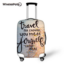 WHOSEPET Peta Luggage Tag Luggage Cover Protection untuk 18-30 Travel Luggage, Cover Debu Elastic Waterproof Accessories Covers