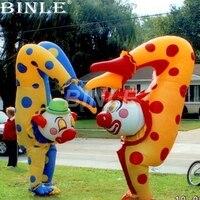 Индивидуальный Забавный детский надувной костюм клоуна для прогулок с перевернутой головой