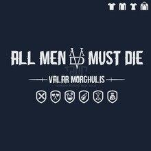 game of thrones original design all men must die men t shirt 100 180g ringspun cotton