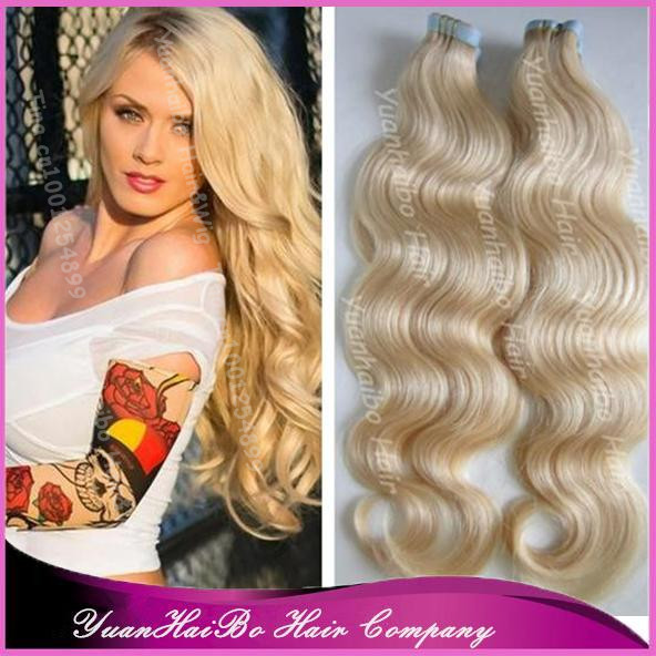 Online shop best quality 613 blonde body wave virgin peruvian 613 blonde body wave virgin peruvian hair double side tape hair extensions 300gram free shipping aliexpress mobile pmusecretfo Images