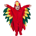Baby Children Christmas Costume Colorful Red Parrots Jumpsuit Animals Birds Cosplay Costume