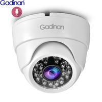 Gadinan IP Dome Camera Sony IMX323 3MP 2048x1536 1080P H.265 Indoor 2.8mm Wide Angle Infrared Night Vision IR Audio 48V PoE