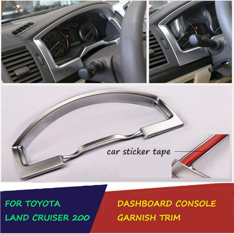 ABS Chrome Inside Dashboard Console Panel Cover Garnish Molding Surround Trim Fit For Toyota Land Cruiser