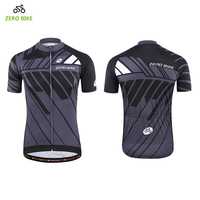 ZEROBIKE Men's Short Sleeve Cycling Jersey 100% Polyester Sports Wear Quick Dry Breathable Cycling Shirt M XXL