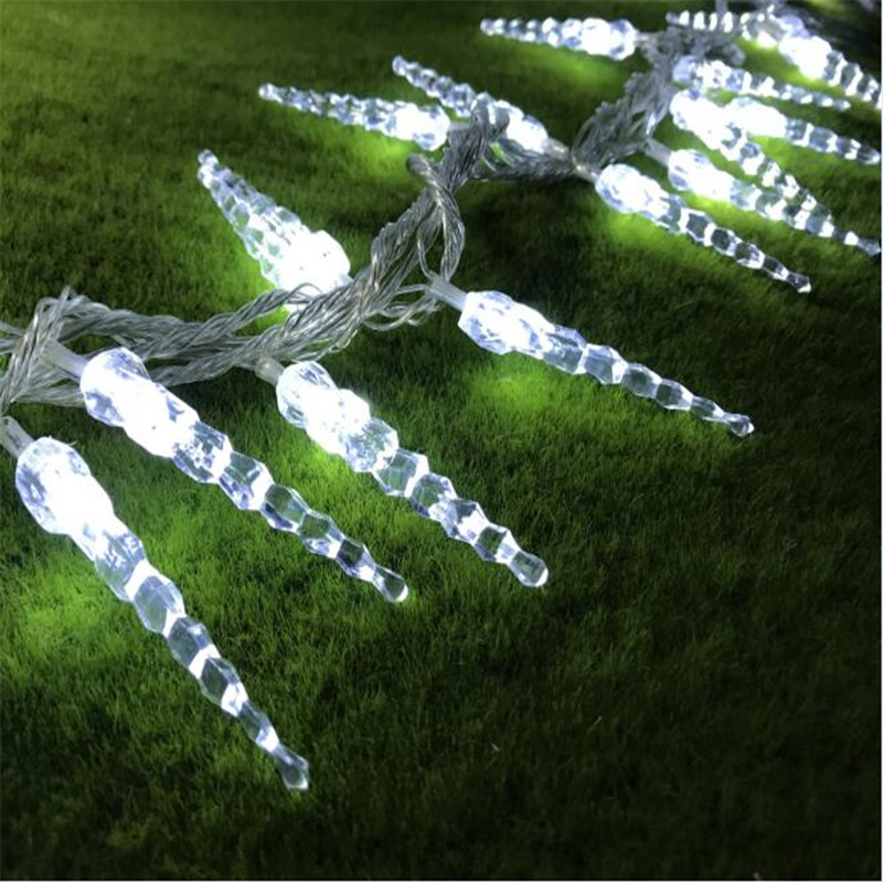 все цены на 4M LED Icicle String Lights Christmas Fairy Lights New Year Xmas Home For Wedding/Party/Curtain/Garden Decoration онлайн