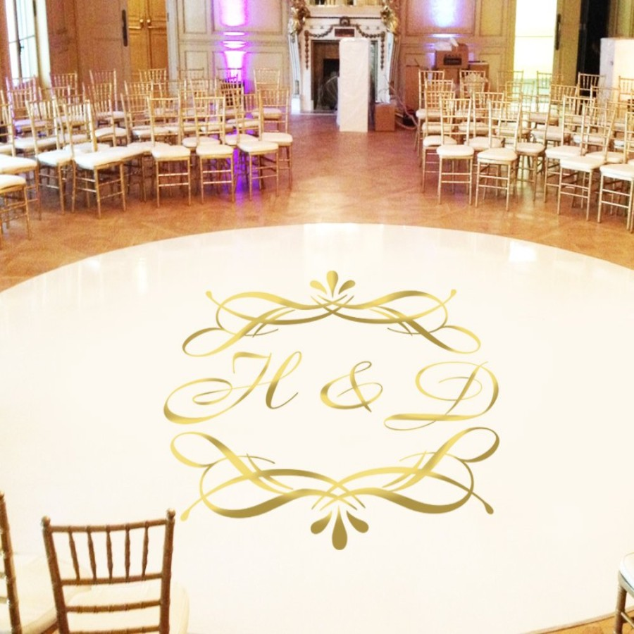 Bride /& Groom Initials Tiger ~ Personalized Wedding Dance Floor Decal Sticker  Wedding Decor  Personalized Wedding  Wedding Sign