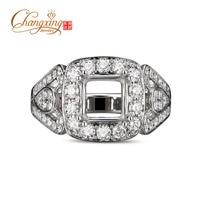 6x6mm Princess Cut Diamond 14k White Gold Engagement Semi Mount Ring