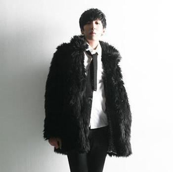 autumn winter thicken thermal faux fur leather jacket men casual mens coats stand collar black white overcoat fashion novelt