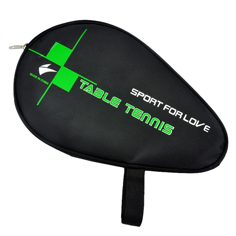 PU Table Tennis Ping Pong Racket Table Tennis Racket Case Gourd Shape Oxford Cloth / PU Zipper Ping Pong Bat Storage Bag