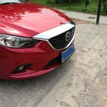 Передняя решетка автомобиля отделка Авто решетка украшения крышка для Mazda 6 atenza, ABS хром