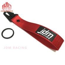 Горячая JDM Гоночный подвесной ремешок для ключей с зажимом и пряжкой, быстроразъемный брелок для ключей, красный/черный ремешок, материал, подвеска для ключей