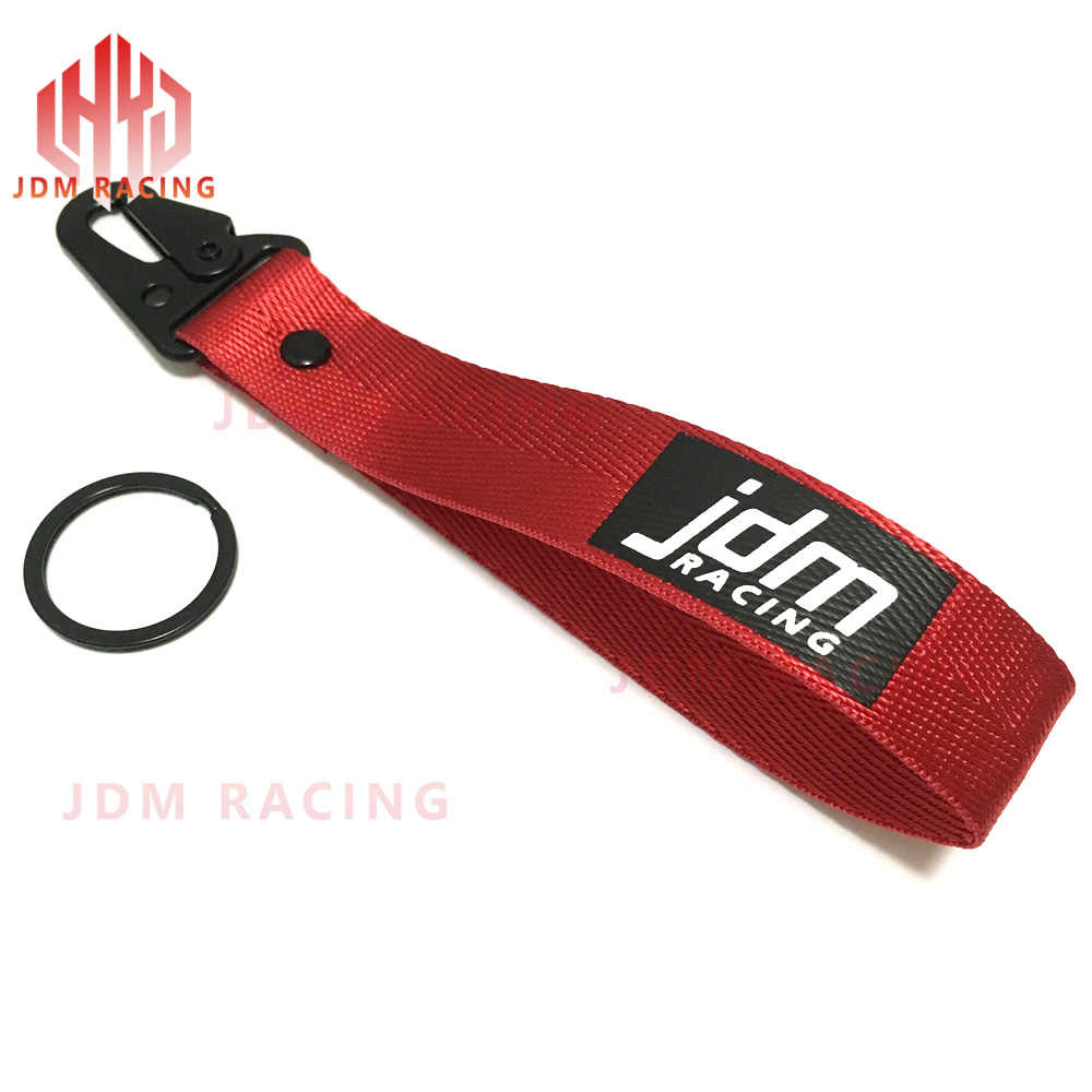 JDM DODGE CHARGER Racing NYLON 2 SIDE Lanyard Neck Strap KeyChain Quick Release