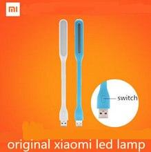 Anahtarı ile Orijinal Xiaomi Mijia USB Işık Xiaomi Led ışık USB ile Güç banka/bilgisayar Taşınabilir Shining Led Lamba