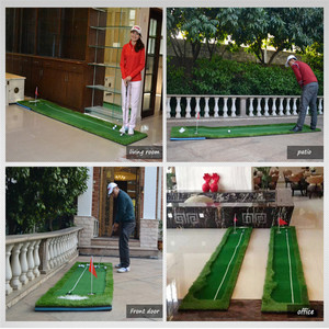Image 5 - PGM גולף עיסוק שמיכת מאמן גולף להתבטל סט ירוק Fairway עגלת גולף עבור משרד בחצר האחורית גולף עזרי הדרכה