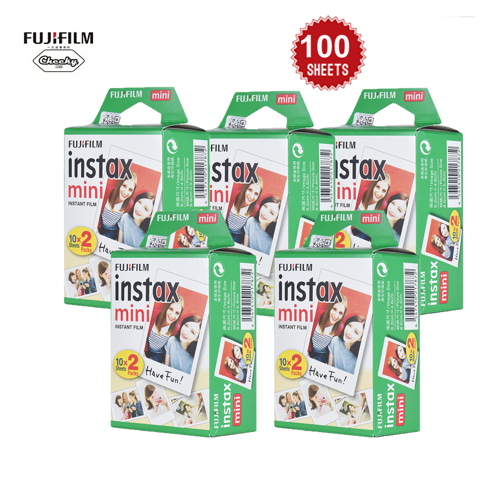 Fujifilm Instax Mini 100 Sheets White Film Photo Paper Snapshot Album Instant Print for Fujifilm Instax